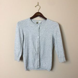 BP Nordstrom Quarter Sleeve Heather Gray Cardigan